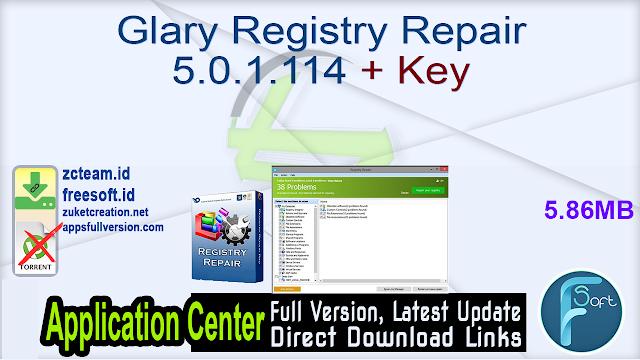 Glary Registry Repair 5.0.1.114 + Key