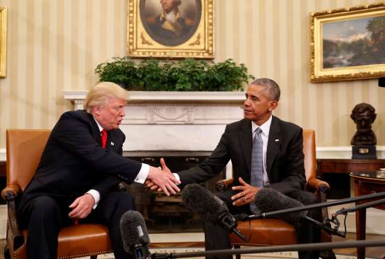 Trump meets Obama in White House to prepare for transition