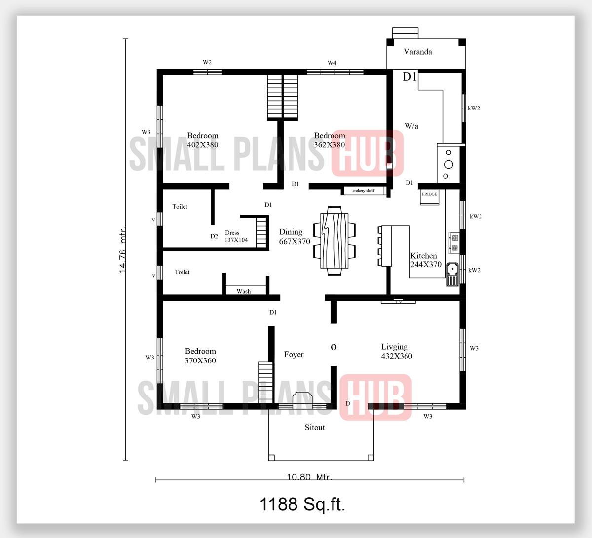 Kerala Model 3 Bedroom House Plans Total 3 House Plans Under 1250 Sq Ft Small Plans Hub,Beach House Floor Plans Bloxburg