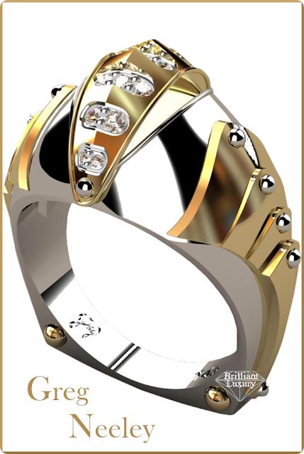 Greg Neeley Knights Vision Mens Diamond Ring #jewelry #brilliantluxury