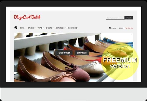 BlogrCart Butik Ecommerce Blogger Template