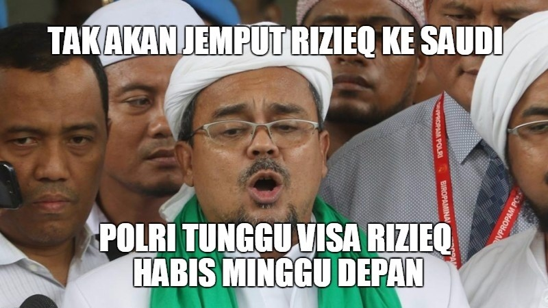 Rizieq tak akan dijemput polisi