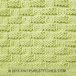 Basket-weave Pattern #2 | KnitPurlStitches.com