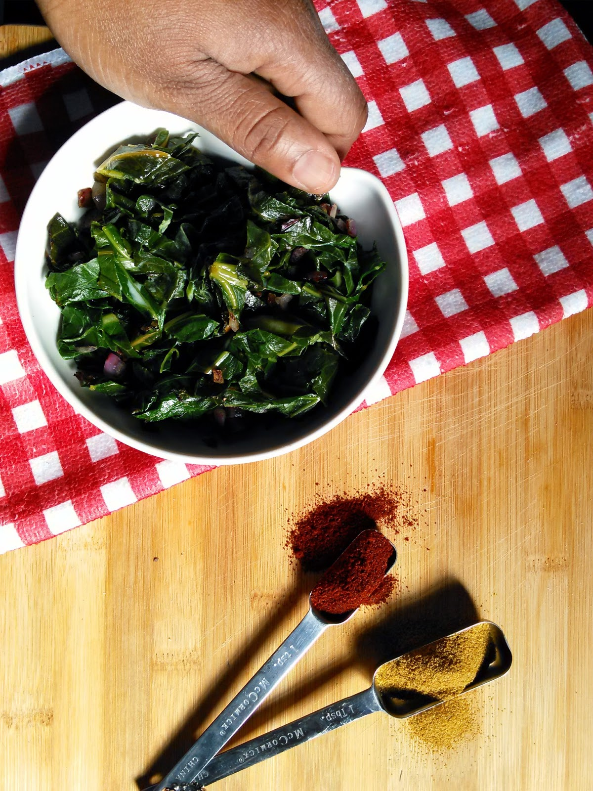 Collard Greens with Cumin and Paprika