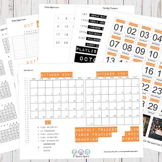 October 2021 Bullet Journal / Planner Free Printable Stickers!