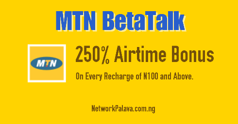 MTN BetaTalk Tariff Plans