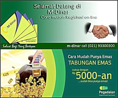 Tabungan Emas Pegadaian dan M-Dinar