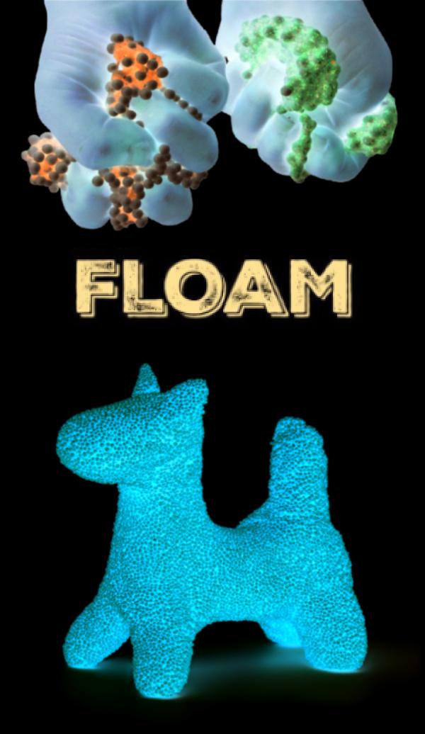 Make your own play FLOAM that glows-in-the-dark! #floamrecipe #floamslime #floamdiy #glowinthedarkslime #glowinthedarkactivities #growingajeweledrose
