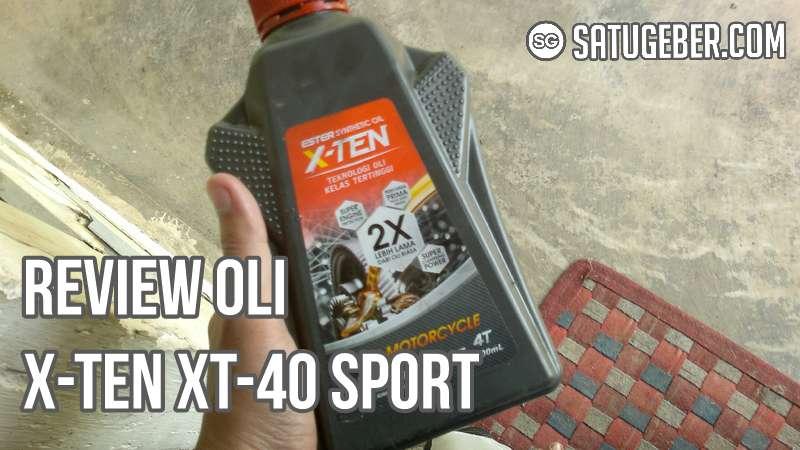foto kemasan oli X-TEN XT-40 Sport untuk New Vixion
