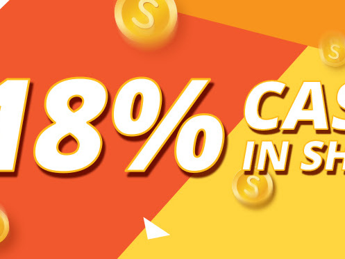 18% Pulangan Membeli-belah Sempena Hari Gaji Shopee