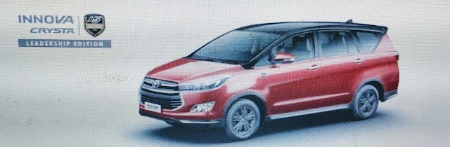 Toyato India launch Innova Crysta leadership edition.