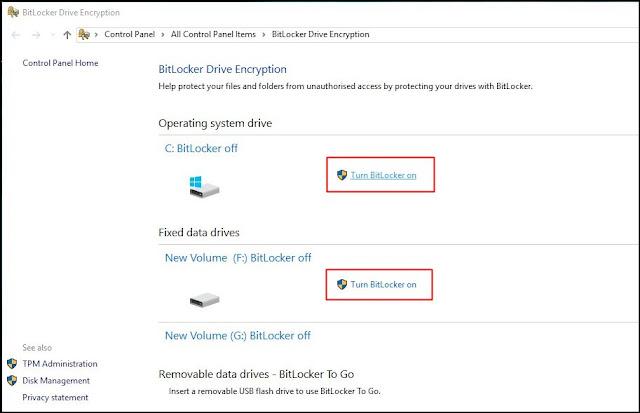 Cara Mudah Mengaktifkan Disk Encryption pada PC Laptop Windows 7, 8, 10