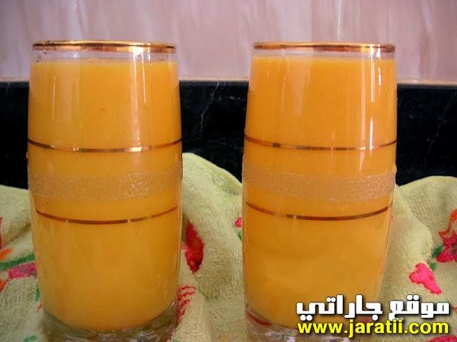 عصير خوخ بالجزر غني ومنعش