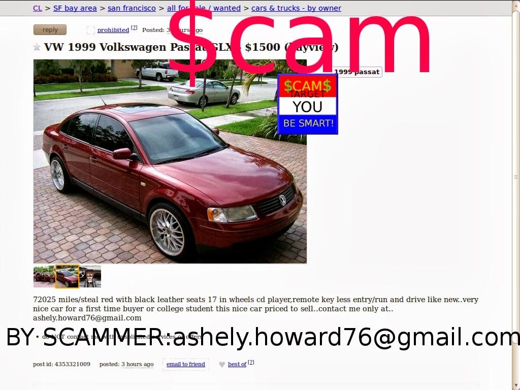 Vehicle Scams Google Wallet Ebay Motors Amazon Payments Ebillme Western Union Money Gram Etc Craigslist Scam Ads Detected 02 27 2014 Update 2