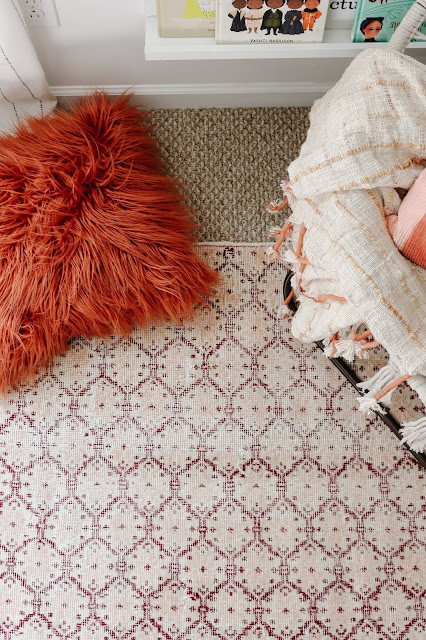 A Boho Modern Playroom with a Beautiful Turkish Rug from Revival