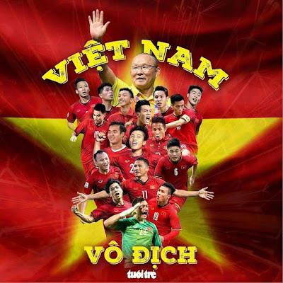 tranh cổ động bóng đá Việt Nam chiến thắng