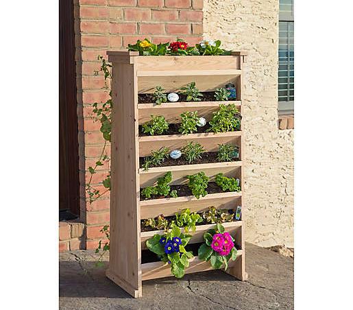 vertical garden planter, herb garden, cedar garden, cedar planters