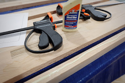 gluing edge wood glue clamps widen board