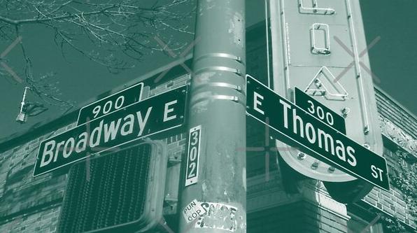 Broadway & Thomas Street, Capitol Hill, Seattle, Washington by Mistah Wilson