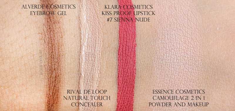 Alverde Cosmetics Eyebrow Gel and Rival De Loop Natural Touch Concealer in 30
