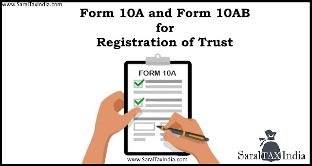 Form 10A and Form 10AB for Trust Registration
