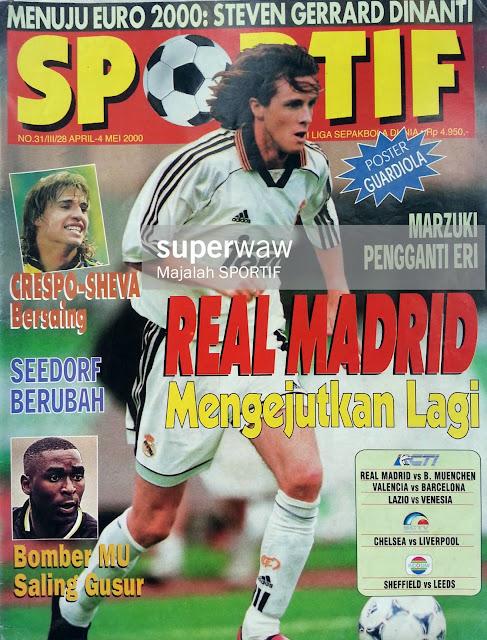 STEVE MCMANAMAN REAL MADRID FOOTBALL MAGAZINE
