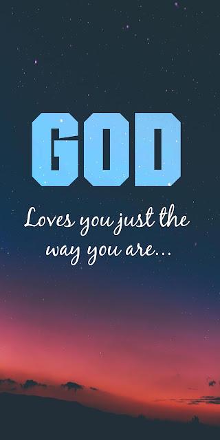 Phone wallpaper God loves you