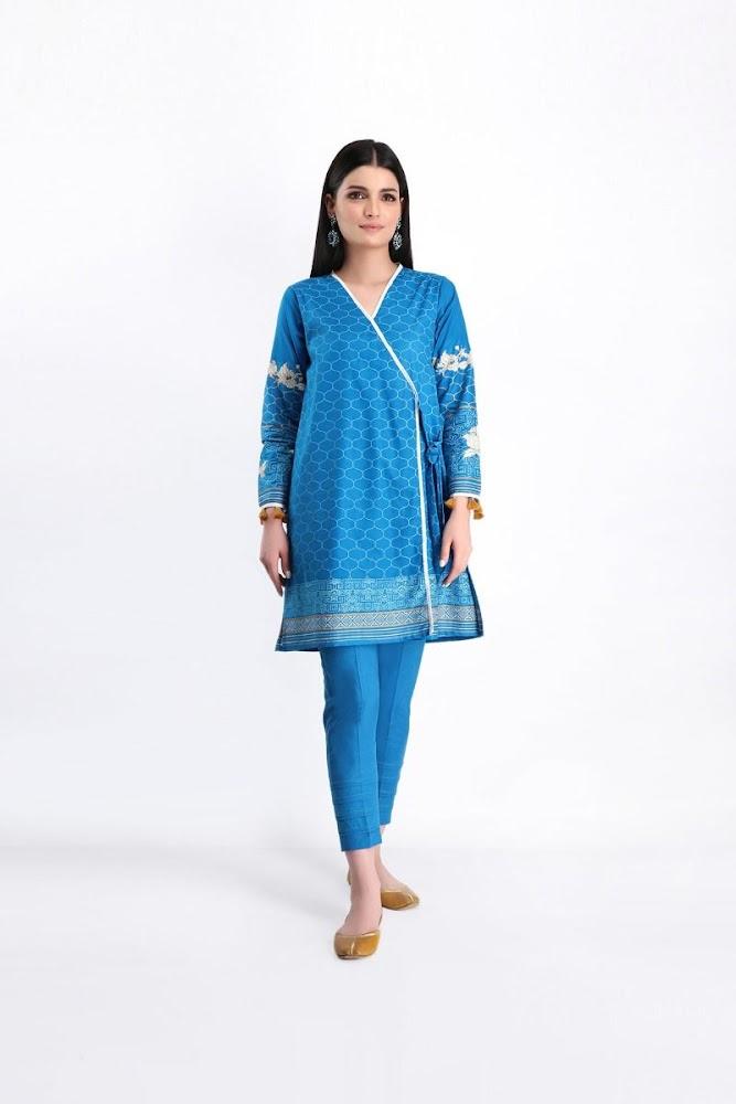 Khaadi blue lawn shirt shalwar