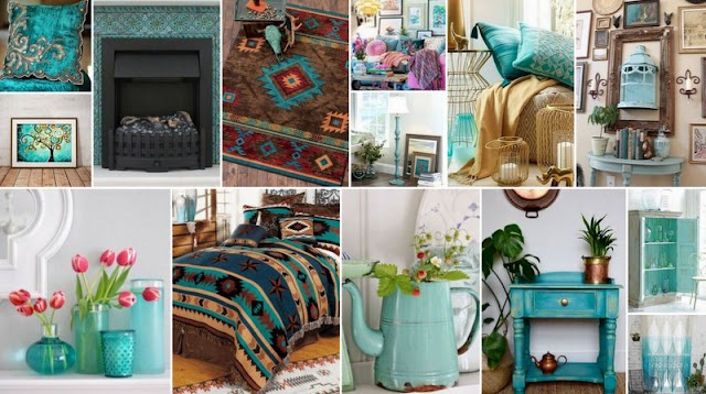 7 Τρόποι για να χρησιμοποιήσετε το Τυρκουάζ στην διακόσμηση του σπιτιού όλες τις εποχές