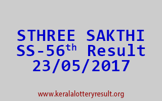STHREE SAKTHI Lottery SS 56 Results 23-5-2017