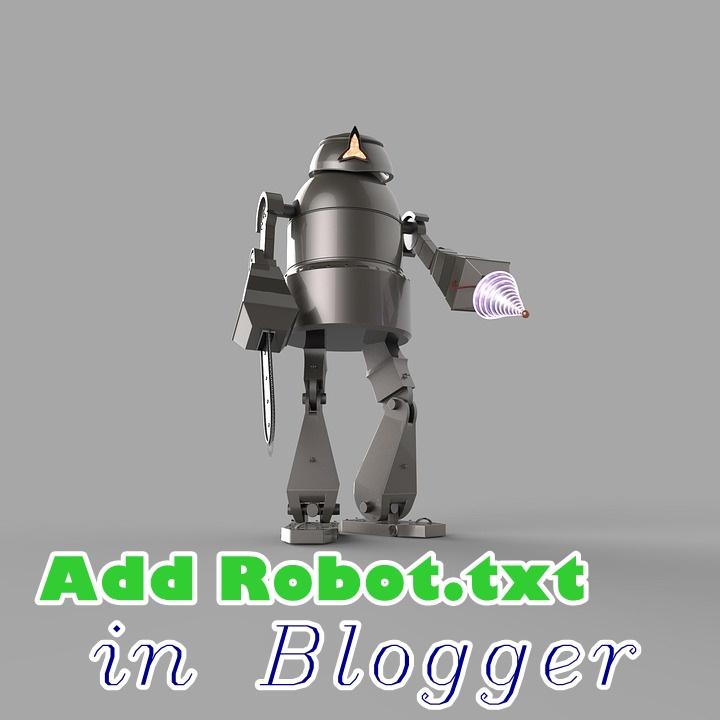 robot txt file add krna blogspot