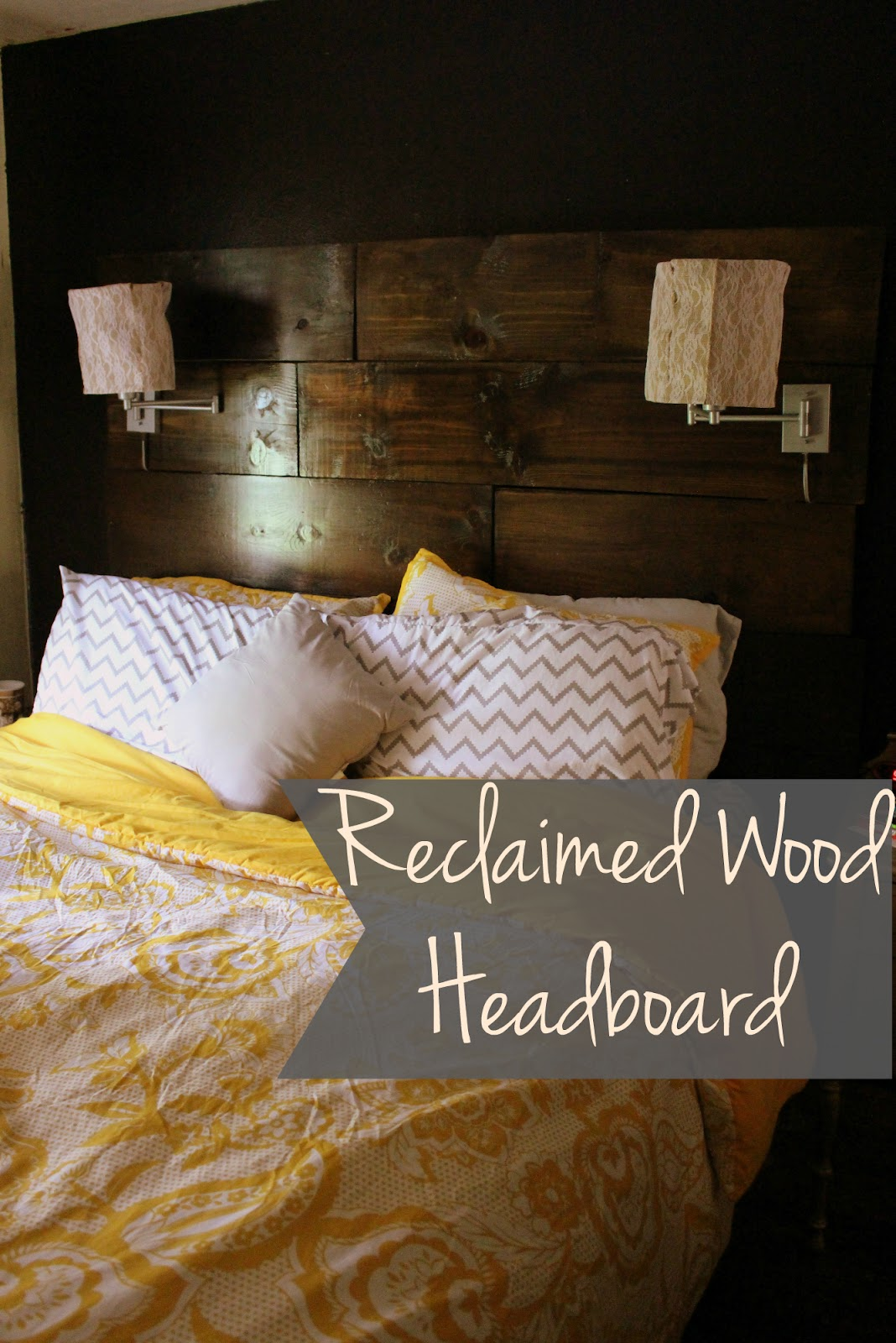 I Finally Got My Act Together And Made A Headboard For Headboardless Bed