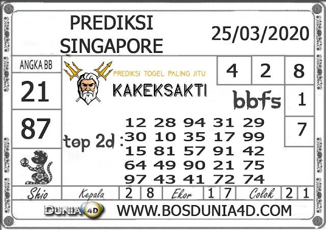 Prediksi Togel SINGAPORE DUNIA4D 25 MARET 2020