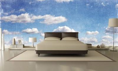 moln tapet sovrum himmel tapet blå fototapet med moln