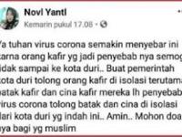 """Bilang Etnis """"Batak"""" Penyebab Virus Corona, Akun FB Novi Yantl Dipolisikan"""