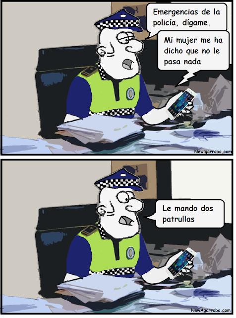 chiste de parejas; chiste de policías