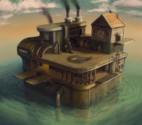 Le Petit Monde De Guiz: Maison Steampunk