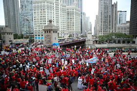 Image of Chicago teachers protest 2012