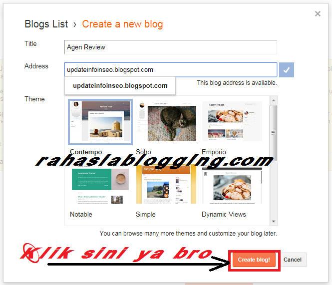 panduan lengkap membuat blog gratis di blogger untuk pemula