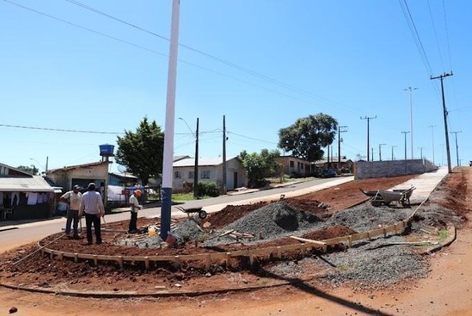 Laranjeiras do Sul: Obras de ciclovia no bairro São Miguel e revitalização da Avenida Santos Dumont