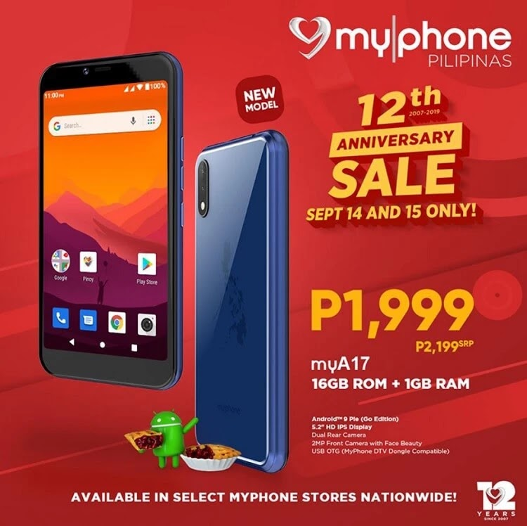 Sale Alert: MyPhone Offers myA17 for only Php1,999!