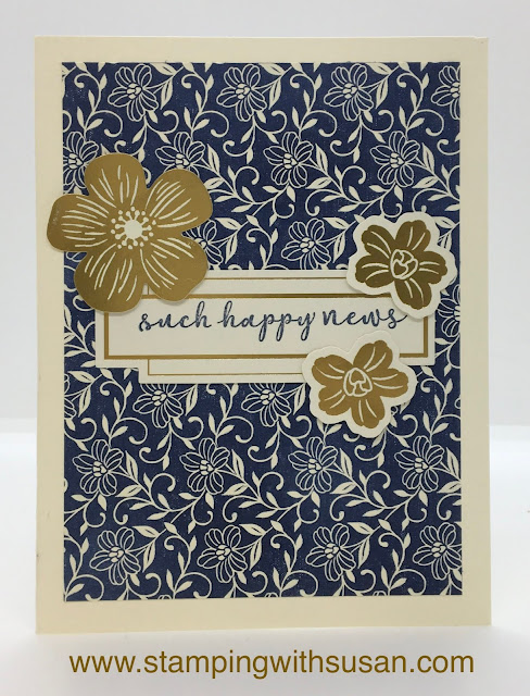 Stampin' Up!, Boho Indigo Product Medley, www.stampingwithsusan.com, Card Kits, Happy News,
