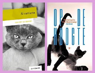 portadas de la novela epistolar Al corriente, de Christophe Van Gerrewey