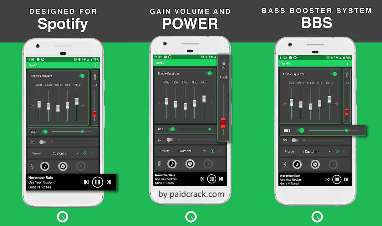SpotiQ - Sound Equalizer & Bass Booster Premium Mod Apk 7.3.0