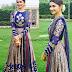 Prachi Desai in Blue Silk Salwar Kameez