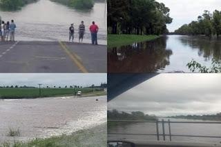 """Hasta ayer, tanto la municipalidad como la Provincia asistían """"en seco"""" a las familias que se negaban a ser evacuadas. Vale recordar que a fines de 2016, un temporal azotó a esa localidad provocando una inundación que dejó un saldo de cientos de evacuados."""