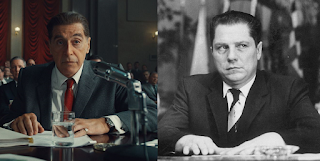 El actor Al Pacino y Jimmy Hoffa