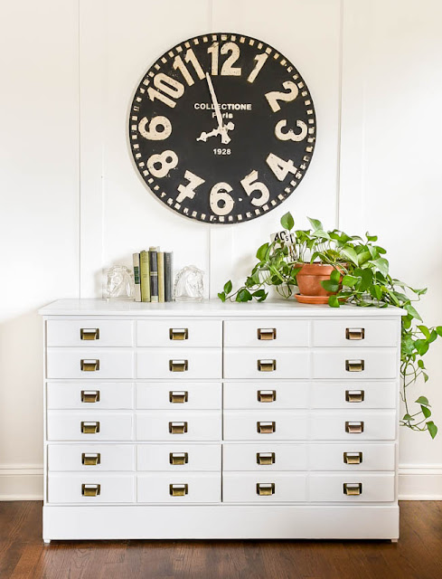 DIY Apothecary cabinet inspired dresser.