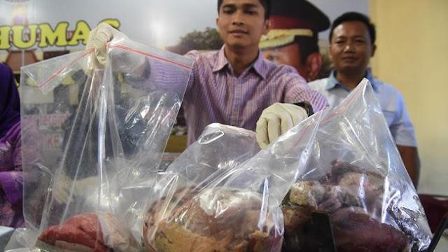 Polisi Masih Buru Pelaku Lain Yang Menjual Daging Babi Mirip Sapi