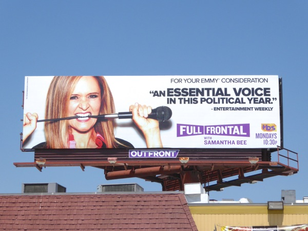 Full Frontal Samantha Bee Emmy consideration billboard